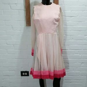 Vtg Jack Bryan Pleated Sheer Dress